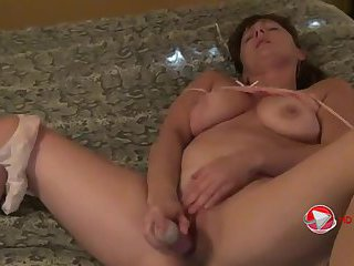 Busty Chick Puts A Dildo In Her Tight Little Pussy