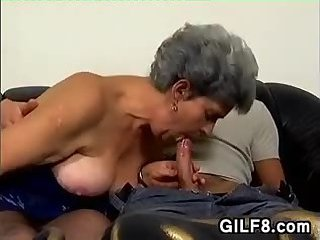 Horny Old Woman Gets Pussy Fucked