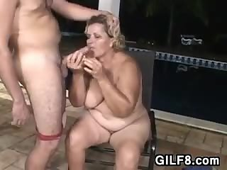 Fat Grandma Wants The Pool Boy