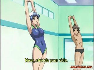 Swimsuit anime bigboobs handjob bigcock