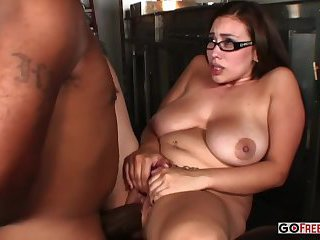 Thumb Busty Selena Castro Strips And Seduces Shorty Mac
