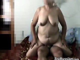 Russian Granny Secretly Filmed