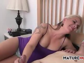 Mother in law hand job