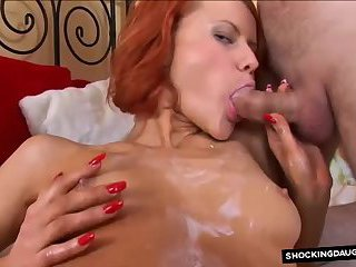 regnant red head gets anal creampie