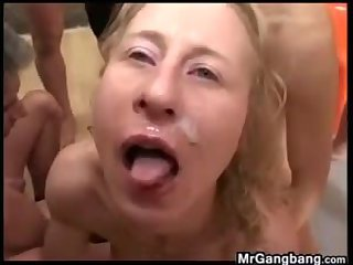 Ugly Mature Whore In A Gang Bang