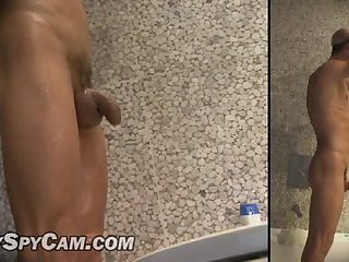 Muscular body in the shower 2