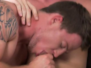 Duke Campbell gets a bare back load in his ass from Atticus
