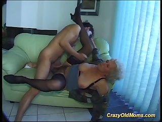busty hairy granny deepthroat on big dick