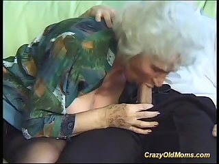 busty hairy granny deepthroat on big dick