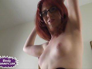 Wendy Summers jerks her cock