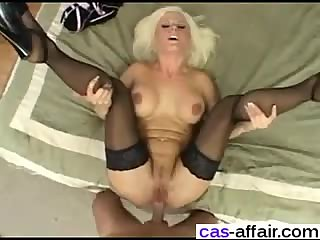 Horny milf gets anal