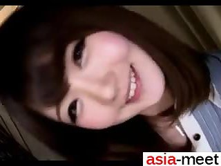 Japanese Girl tryes Red Toy