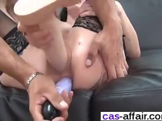 French Girl Gets Huge Toys