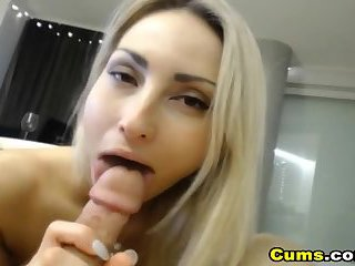 Skinny Blonde Babe Gets Fucked By Boyfriend On Cam