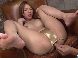 Amazing masturbation show with curvy ass Rei