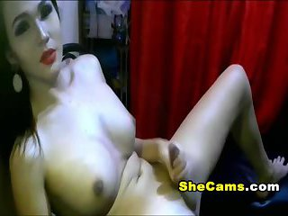 Sexy Shemale Releases Hot Cum