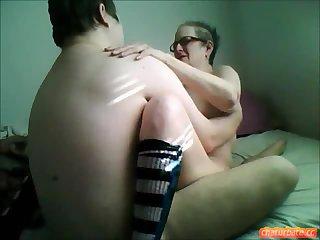 Amateur granny gets banged
