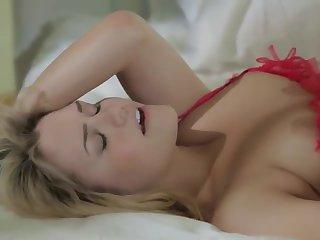 Lesbian girlfriends in sexy lingerie