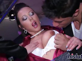 Horny playgirls enjoy sucking on big dicks