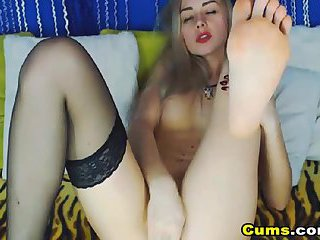 Football girl masturbation