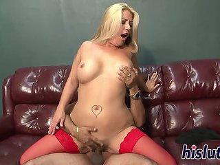 Blonde mature slut has her pussy rammed