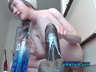 Big Black Dildo Creamy Cum