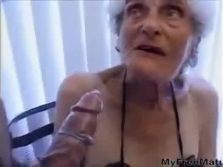 Granny gets old twat stuffed