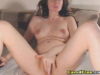 Slim Sexy Babe Loves Masturbation Show