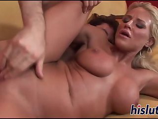 Blonde hottie with big naturals gets screwed