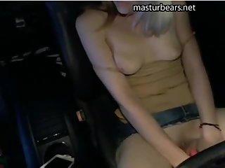 My car masturbation in a parking lot