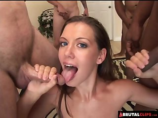 Countless cocks drown Alicia in jizz