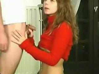 Super cute Jessica sucks a cock - and loves it