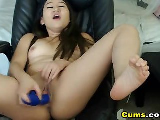 Busty Asian Babe Loves to Masturbate