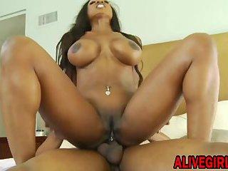 Ebony Star DiamondJackson fucks in ass with a big black cock