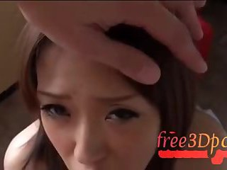 Japanese babe sucking pov dick