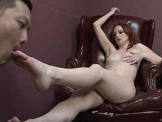 Audrey Lords is a redhead who loves Japanese men