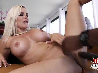 Big tits wife interracial with cumshot
