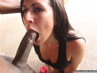 Lexxie Cream enjoys this big black cock