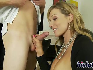 Thumb Stacked soccer mom has her beaver drilled