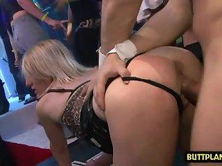 Hot pornstar sex party and cumshot