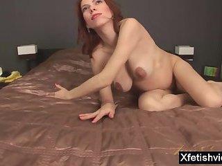 Redhead pregnant sex with cumshot