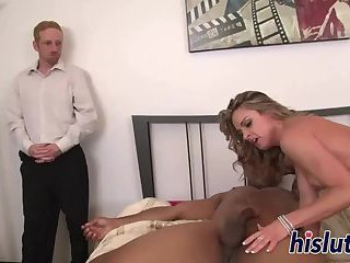 Black stallion bangs a hot blonde