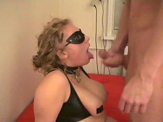 Cumming on gloves sub lady Erica