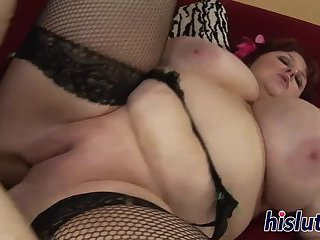 Fat slag with big tits gets screwed