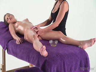 Little caprice gets massage sensual orgasm