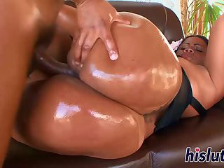 Saucy and curvy bitch gets nailed