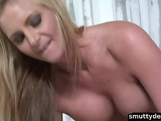 Big tit blonde bombshell gets pussy pounded
