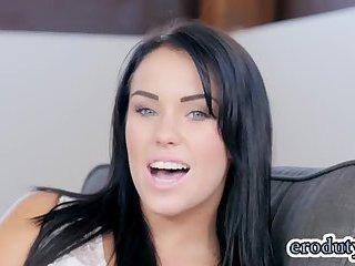 Brunette pornstar hardcore and cum in mouth