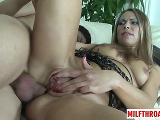 Hot mature anal and cumshot
