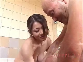 Maki Tomoda pleases an old man
